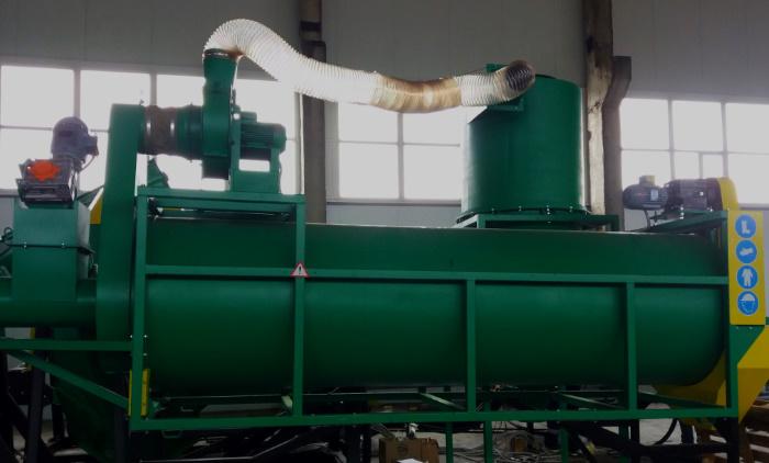 Частина комплексу переробки біовідходів з мотор-редукторами Transtecno