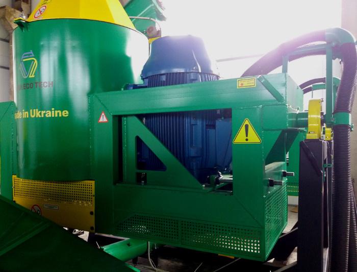 Частина комплексу переробки біовідходів з двигуном WEG
