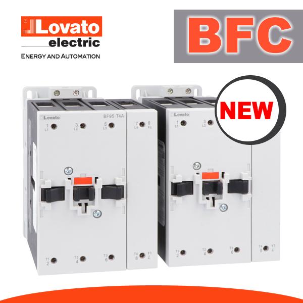Нові перемикаючі контактори BFC від Lovato Electric