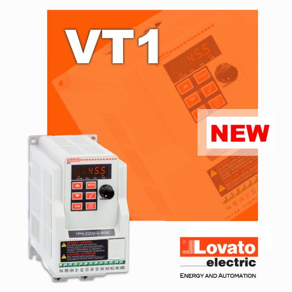 Нові однофазні приводи зі змінною швидкістю серії VT1 від Lovato Electric