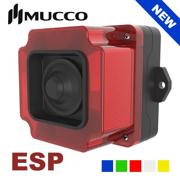 Нові світлосигнальні попереджувальні промислові сирени Mucco серії ESP