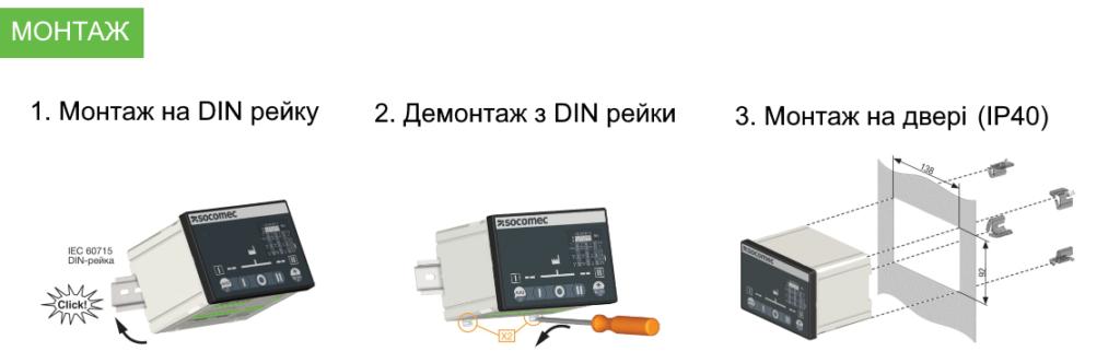 Монтаж ATyS A та ATyS C
