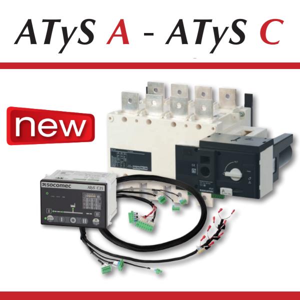 Перекидні моторизовані рубильники ATyS A - ATyS C з вбудованим контролером АВР