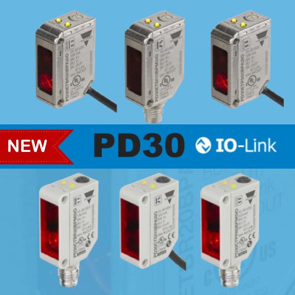 Нові багатофункціональні фотоелектричні датчики PD30 IO-Link