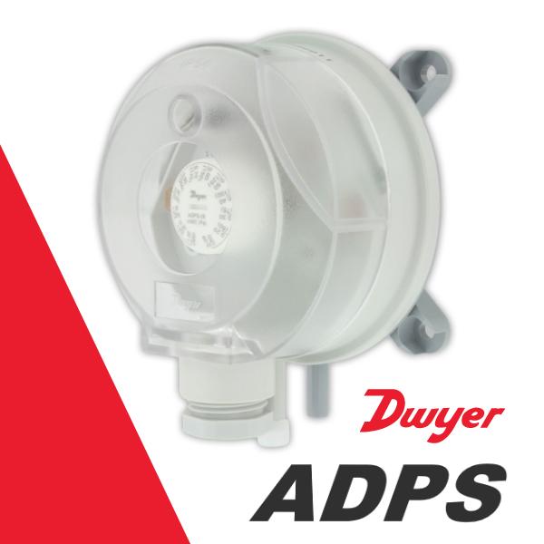 Регульований датчик-реле диференціального тиску Dwyer ADPS